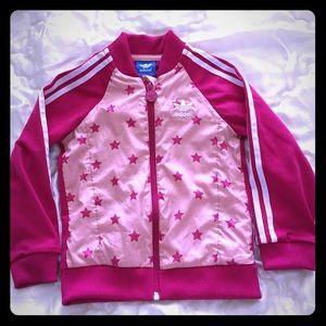 Adidas Girls pink star jacket size 3-4T